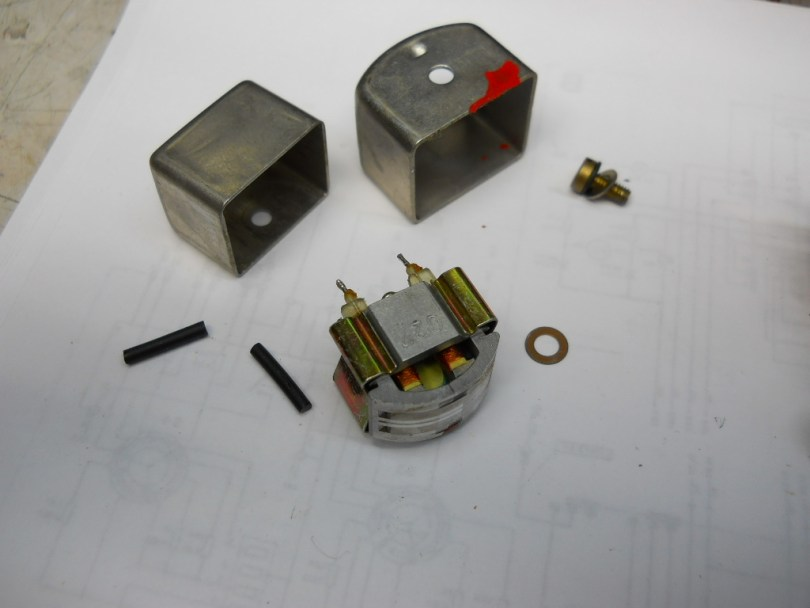 tape heads disassembled on Revox A77