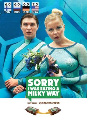 New Milky Way print ad