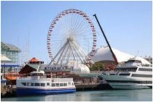 Navy Pier and tour boats delight visitors