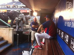 Bob Vorwald talks to Ryne Sandberg in Philadelphia