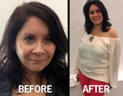 Producer Carey Lundin before… and after Style makeover
