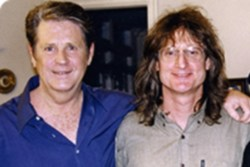 John Anderson (right) with Brian Wilson