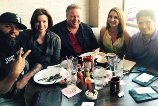 Ex-pats Parde Bridgett, Lindsey Luck, Ron Maede, Kelli McNeil, Dante Bacani in LA.