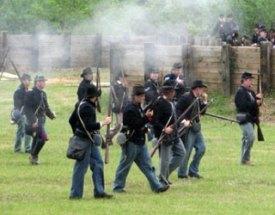 Union Army reenactorsUnion Army reenactors