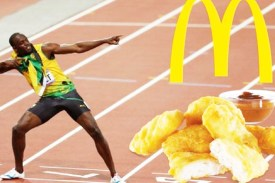 Jamaican sensation Usain Bolt says that Chicken McNuggets helped him win multiple gold medals at the 2013 Beijing Olympics