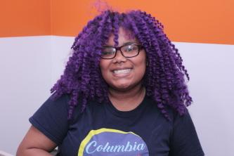 Free Spirit Media intern Kenyetta Johnson at Stage 18