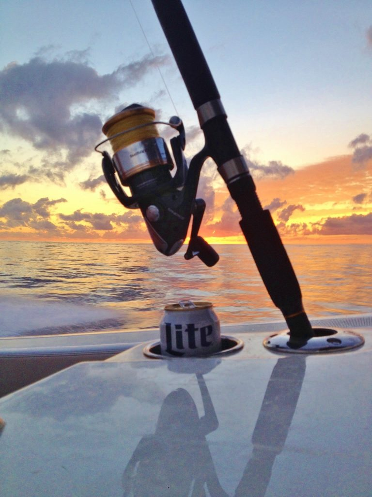 "Fish in the box, calm seas and headed home...I guess you call that ""Miller Time"""