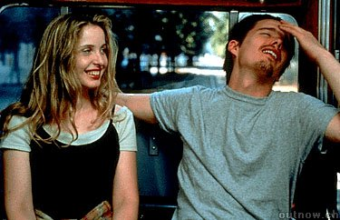 Celine (Julie Delpy) and Jesse (Ethan Hawke) share a moment