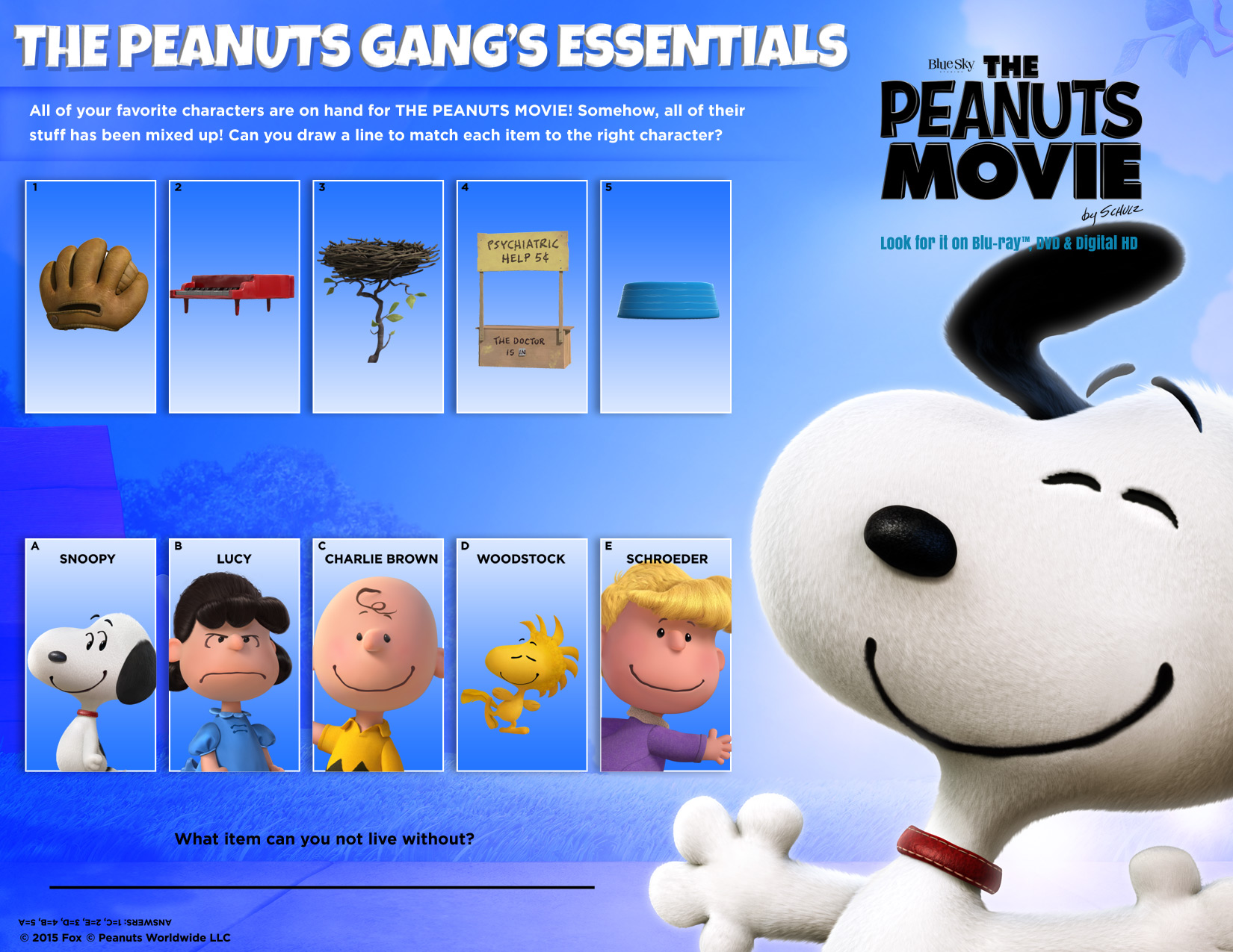 Printable Peanuts Activity Pages For Kids Summer Fun