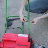 Where the handle attaches to the reel lawnmower body. It just pops right on with no tools.