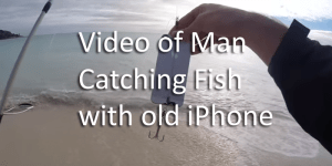 man catches fish with iphone copy