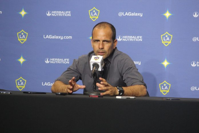 Oscar Parega, Head Coach lead his young but talented team in a 2-1 victory over LA Galaxy at STUBHUB CENTER, Carson, Ca. Photo Credit: Michael Reel/Reel Urban Images