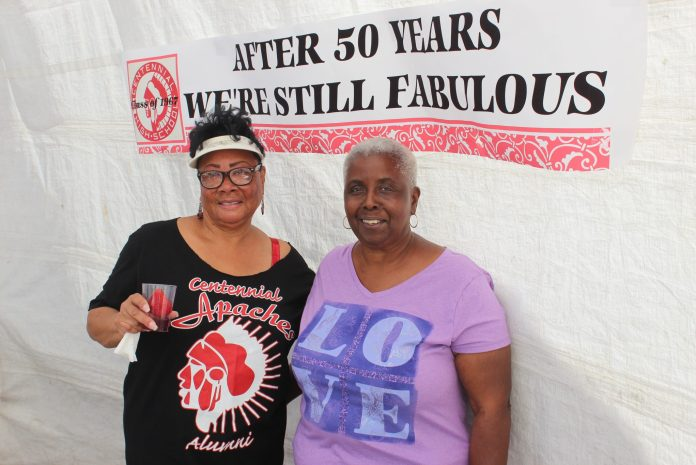 """Centennial High School Class of """"67"""": After 50 Year We're Still Fabulous Co-Host Tanya Lewis and Donna Jones. Photo Credit: Reel Urban Images"""