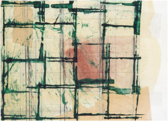 Sin Título Lápiz, colage, óleo sobre papel 1992