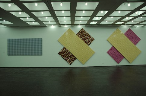 Mondrian & Van Doesburg Hule templado sobre 5 bastidores 1991 (esta versión: 2011)