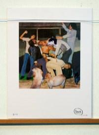 Saltando Matones Collage, pintura 1996