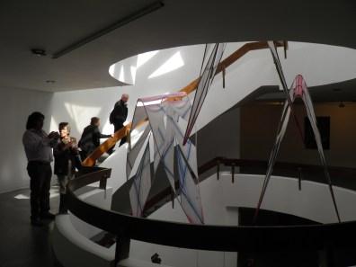 Salón de Nuevas Expresiones Plásticas. Vista general Foso central.