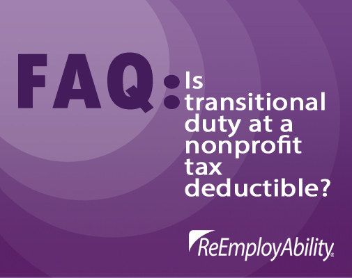 FAQ: Are there tax benefits to using Transition2Work?