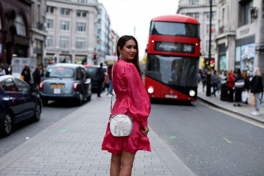 Reena Rai British Asian fashion blogger wearing Stine Goya and Radley