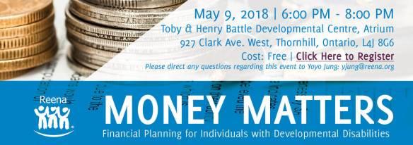 Money Matters invitation