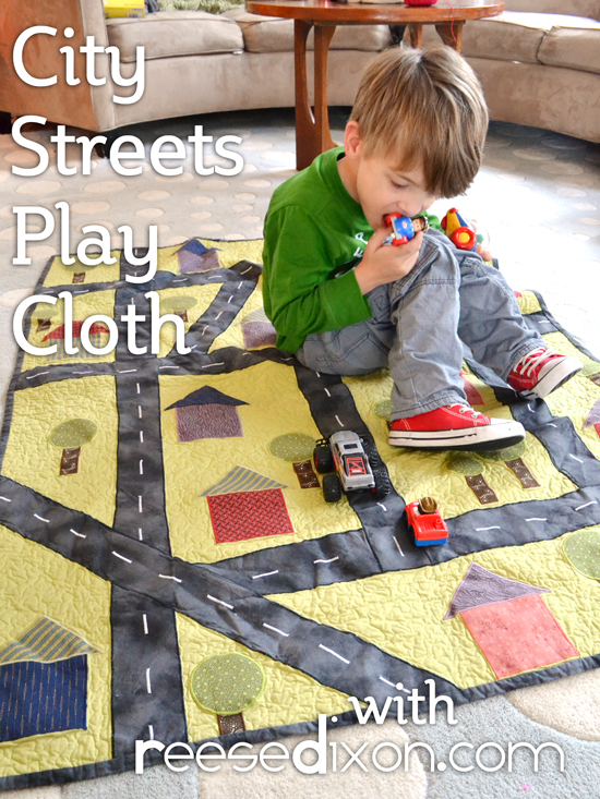 City Streets Play Cloth
