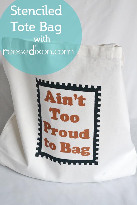 Stenciled Tote Bag