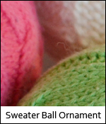 Sweater Ball Ornament