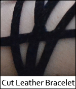 Cut Leather Bracelet