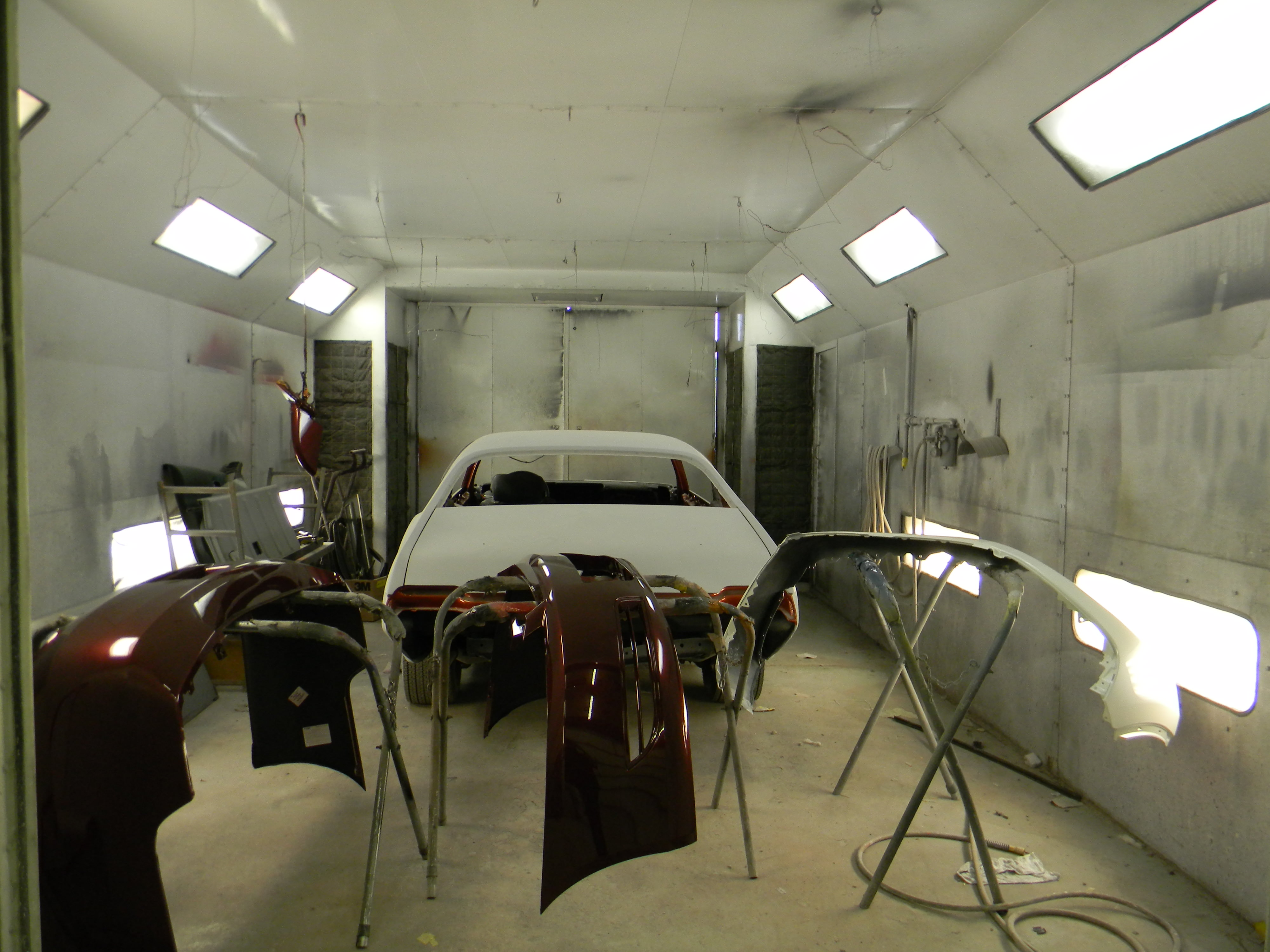 Reesman Body Shop-Vehicle in Paint Booth