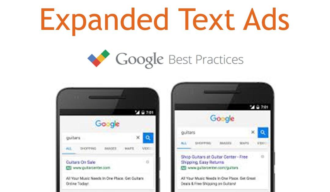 Google Adwords : les Expanded Text Ads sont arrivés !
