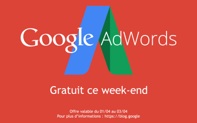 AdWords gratuit pour le week-end !