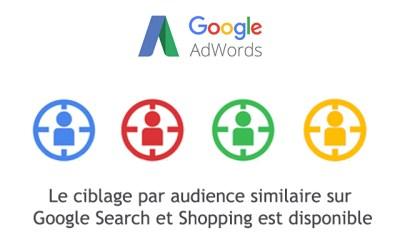 Le ciblage par audience similaire sur Google Search et Shopping est disponible