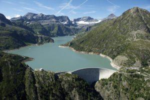 Emosson dam view