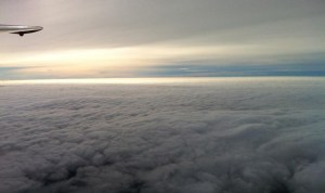 Above the clouds view from a plane