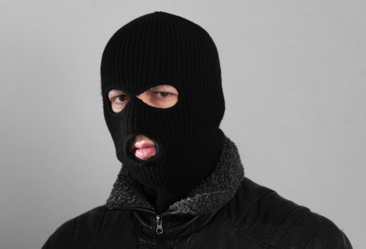 """Balaclava 3 hole black"" by Tobias ""ToMar"" Maier. Licensed under CC BY-SA 3.0 via Wikimedia Commons - https://commons.wikimedia.org/wiki/File:Balaclava_3_hole_black.jpg#/media/File:Balaclava_3_hole_black.jpg"