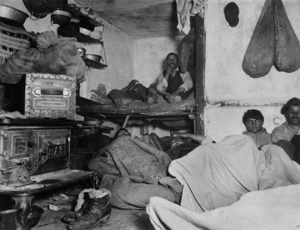 Jacob Riis, Lodgers in a Crowded Bayard Street Tenement