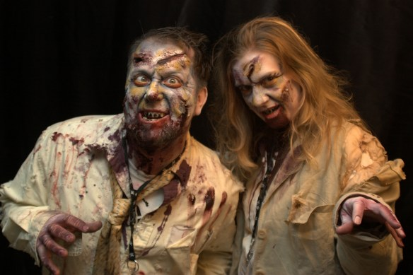 male and female zombies