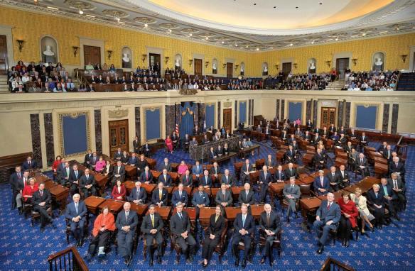 A class photo of the 111th United States Senate