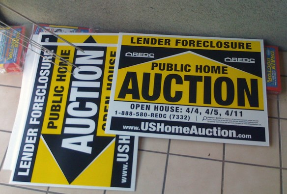 Foreclosure Auction Signs by Niall Kennedy