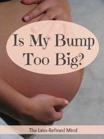 Have you been told your bump is measuring too big? Do you have concerns about whether your baby bump is the right size, the normal size, or a healthy size? Check out this post to see the normal range.
