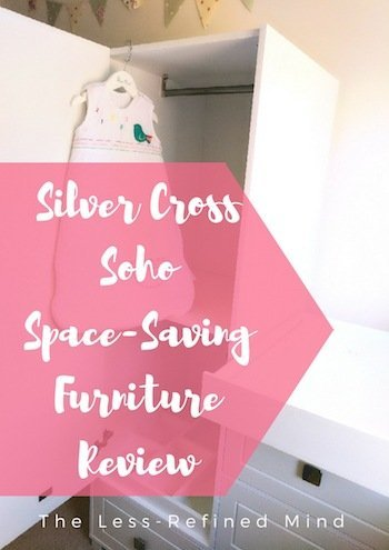 A full review of the Silver Cross Soho space saving furniture, designed with petite nurseries and box rooms in mind. If you have a tiny nursery and you're seeking ideas or tips to maximise space and fit all the required baby furniture, check this out for inspiration.