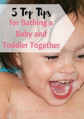Bathing a baby and toddler together for the first time can be a daunting task. Check out these top tips for a fun and successful experience!