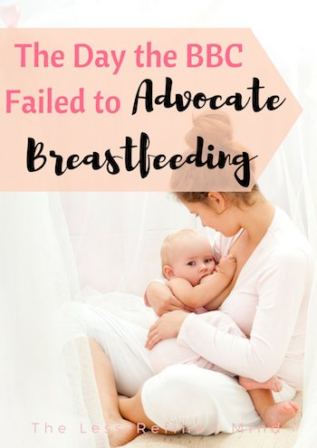 Is it any wonder breastfeeding rates are so low when we can't even rely on the BBC to advocate for it? #breastfeeding #nursing #normalisebreastfeeding #normalizebreastfeeding