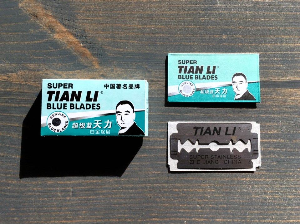 Super Tian Li Blue Blade Razor Blade