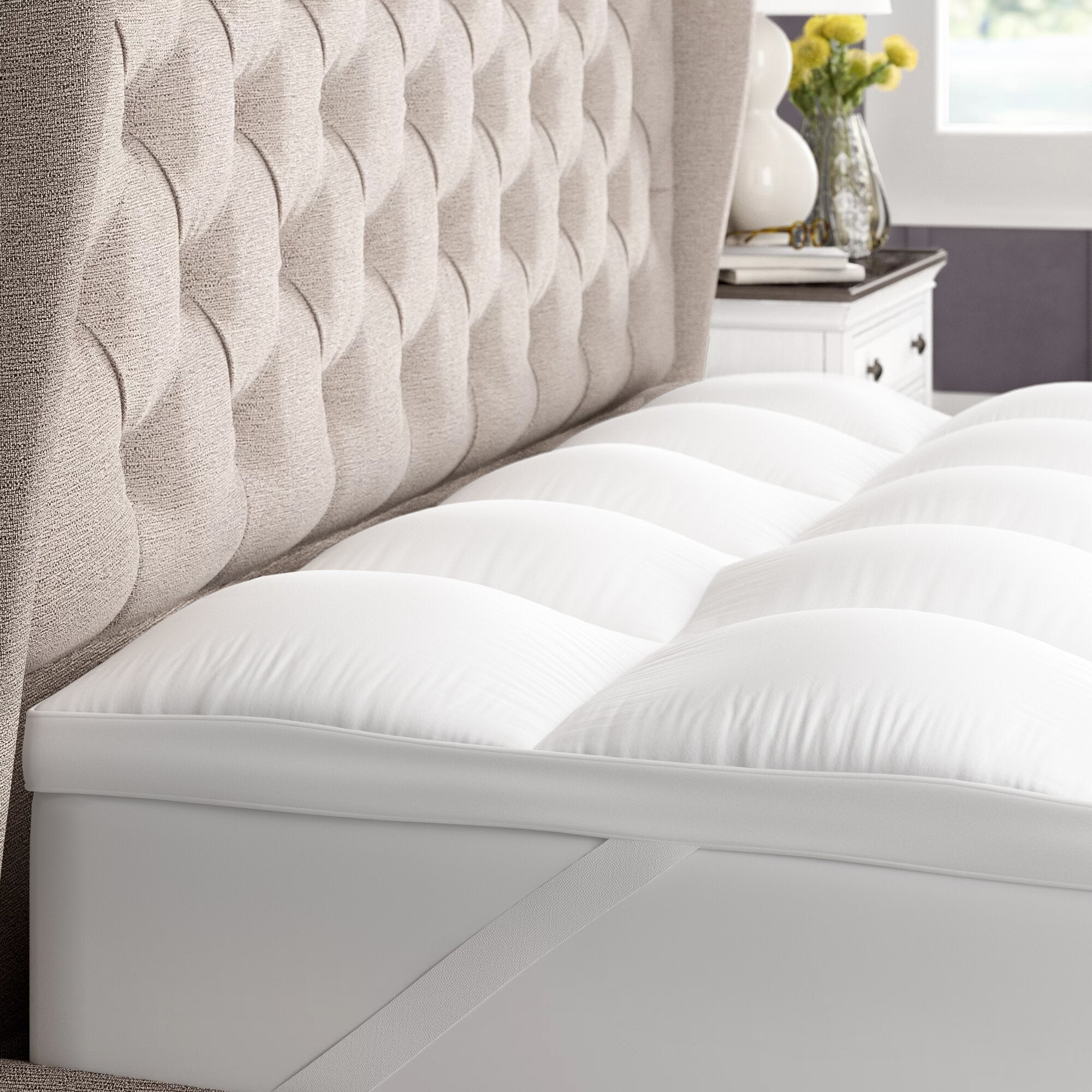 gerstner thick hypoallergenic 2 down alternative bed mattress topper