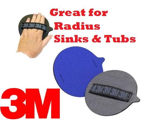 3M STIKIT DISK HAND PAD Bathtub Refinishing Coatings