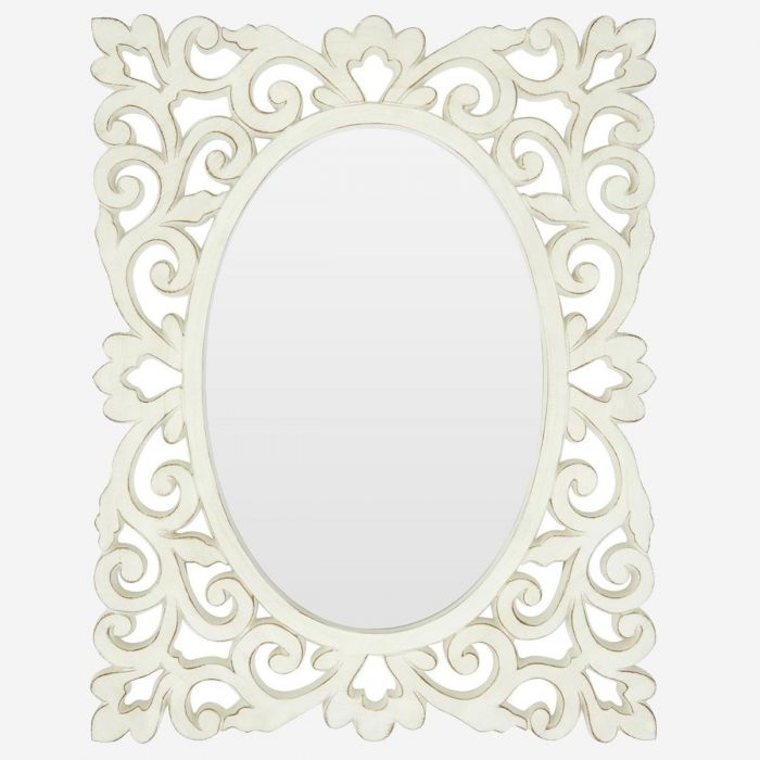 shabby chic wall mirror stansie white