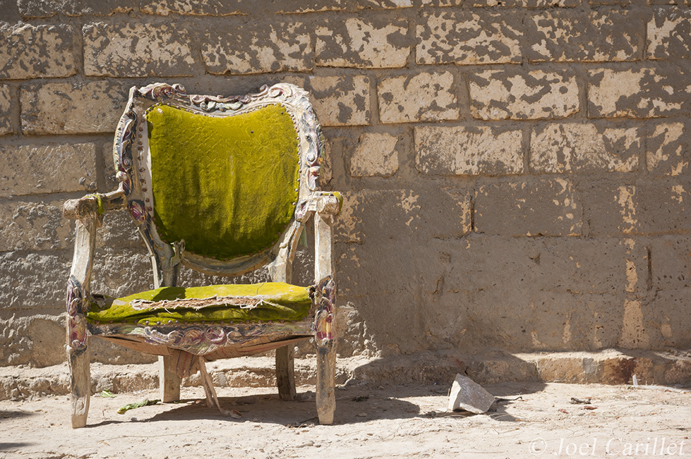 worn-out chair in Egypt