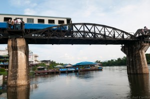 Bridge on the River Kwai in Kanchanaburi, Thailand