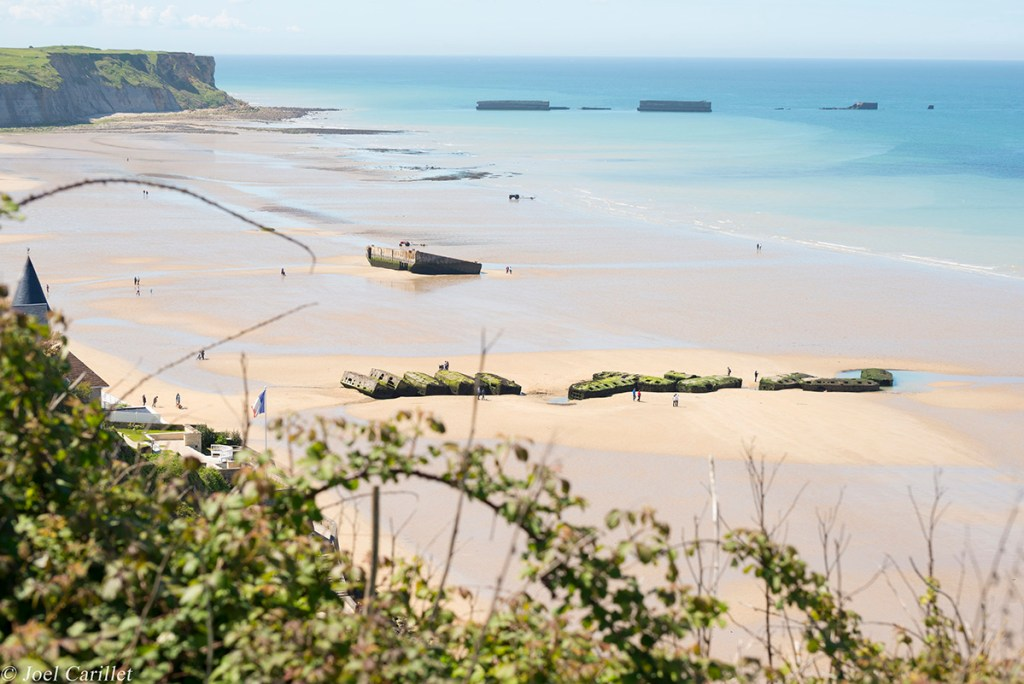 Remains of Mulberry Harbour in Arromanches